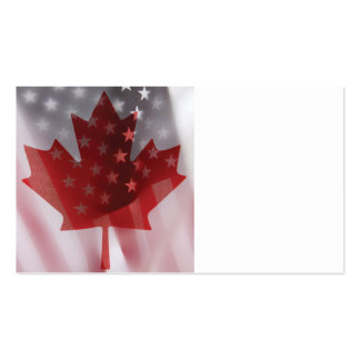 U.S. and Canada flags business card