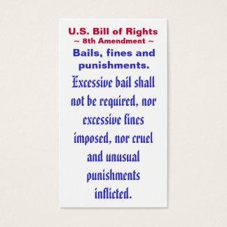 U.S. Bill of Rights, ~ Eight (8th) Amendment ~