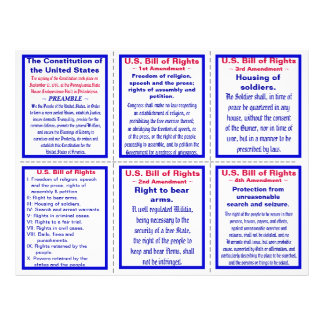 U.S. Bill of Rights Pocket Pamphlet (25ct) 21.5 Cm X 28 Cm Flyer