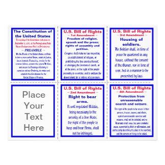 U.S. Bill of Rights Pocket Pamphlet Template 21.5 Cm X 28 Cm Flyer