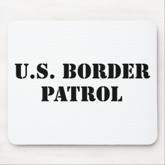 U S Border Patrol text Mouse Pads