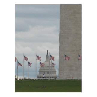 U S Capitol and Washington Monument Post Cards