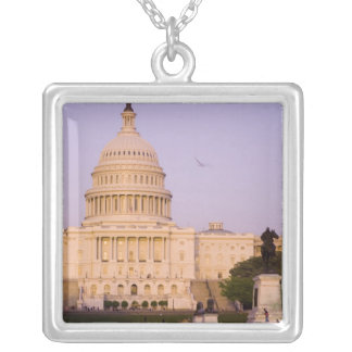 U.S. Capitol, Washington D.C. (District of Silver Plated Necklace