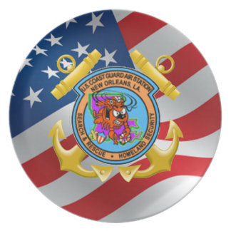 U.S. Coast Guard Air Station New Orleans Party Plate