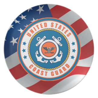 U.S. Coast Guard Captain Dinner Plates