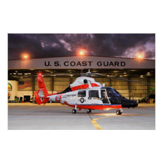 U.S. Coast guard Helicopter Poster