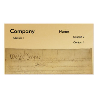 U S Constitution_Pg1 and 4 Business Cards
