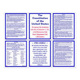 U S Constitution Pocket Pamphlet Bookmark Flyer