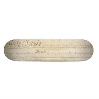 U S Constitution Skate Board