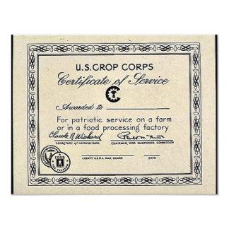 U.S. Crop Corps Custom Invitation