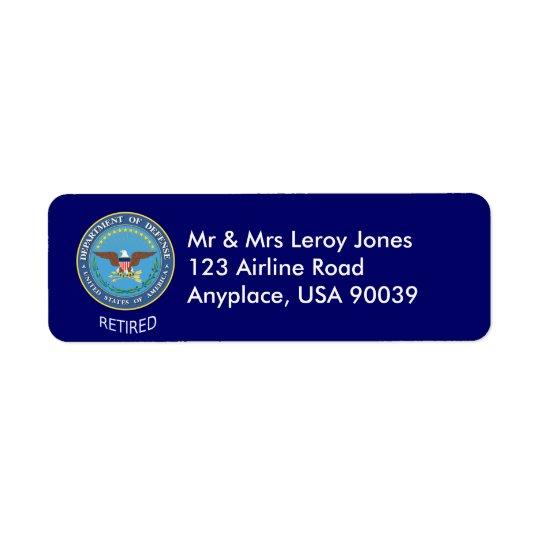 U.S. Defence Department Retired Label