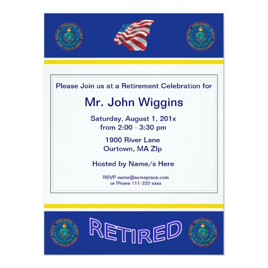 U.S. Defence Intelligence Agency Retirement Invita Card