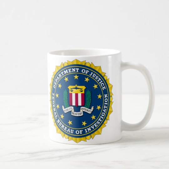 U.S. DEPARTMENT OF JUSTICE - FBI COFFEE MUG