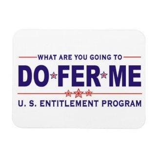 U.S. entitlement program Rectangular Photo Magnet