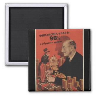 U.S. financial world Propaganda Poster Square Magnet