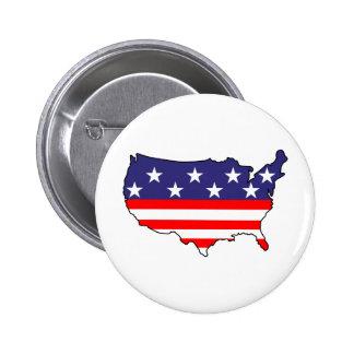 U. S. Flag 6 Cm Round Badge