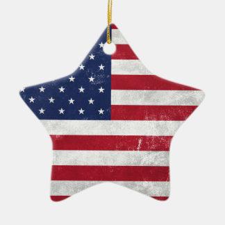 U.S. Flag Ceramic Star Decoration