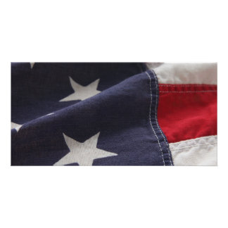 U.S. flag close up photo card