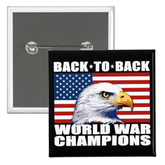 U.S. Flag & Eagle World War Champions Buttons