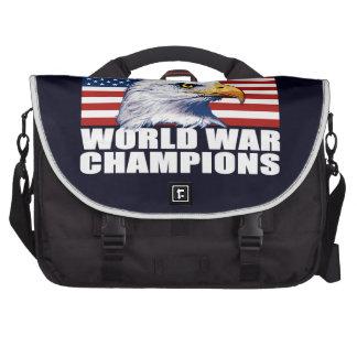 U.S. Flag & Eagle World War Champions Laptop Bag