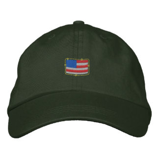 U S Flag Embroidered Cap