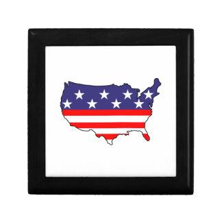 U. S. Flag Small Square Gift Box