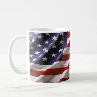 U.S. Flag Basic White Mug