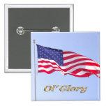 u s flag, ol' glory buttons