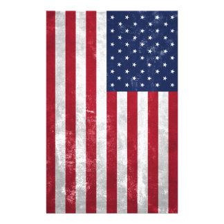 U.S. Flag Personalised Stationery