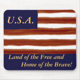 U S Flag Personalized Mouse Pad
