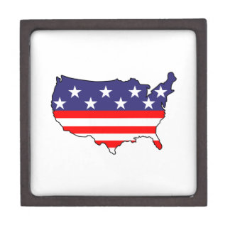 U. S. Flag Premium Keepsake Boxes