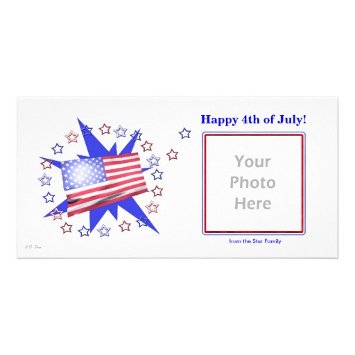 U.S. Flag Stars - 4th of July Photo Card Template
