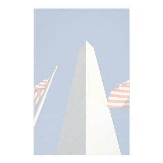 U S Flags at the Washington Monument Customized Stationery