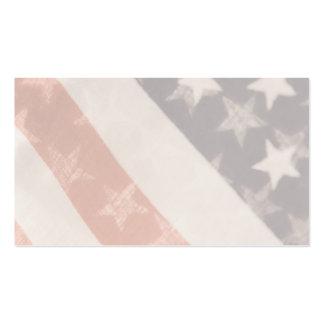 U.S. flags transparent business card