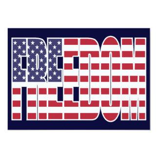 U.S. Freedom Flag 13 Cm X 18 Cm Invitation Card