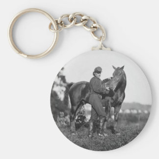 U.S. Horse Artillery, 1863 Basic Round Button Key Ring