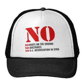 U S Intervention in Syria Mesh Hats