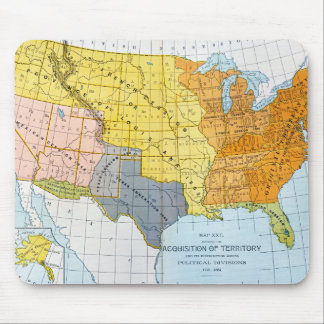 U.S. MAP, 1776-1884 MOUSE PAD