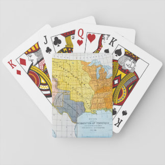 U.S. MAP, 1776-1884 PLAYING CARDS