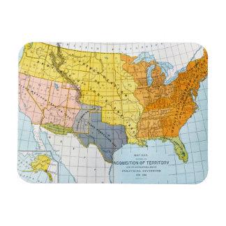 U.S. MAP, 1776-1884 RECTANGULAR PHOTO MAGNET