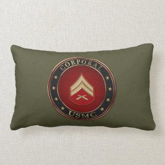 U.S. Marine Corporal 3D Rank Insignia Lumbar Pillow