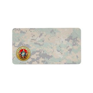 U.S. Marine Corps Forces Command (MARFORCOM) [3D] Address Label