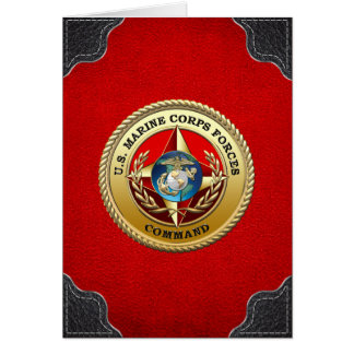 U.S. Marine Corps Forces Command (MARFORCOM) [3D] Card