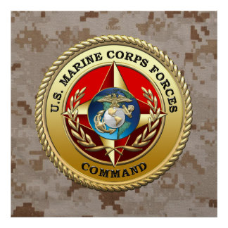 U.S. Marine Corps Forces Command (MARFORCOM) [3D] Poster