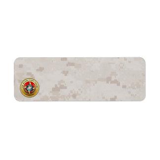 U.S. Marine Corps Forces Command (MARFORCOM) [3D] Return Address Label
