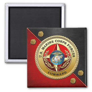 U.S. Marine Corps Forces Command (MARFORCOM) [3D] Square Magnet