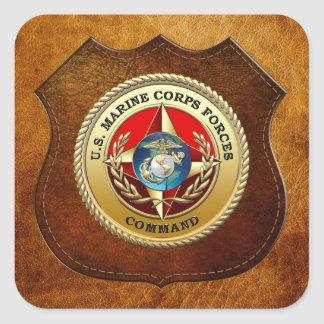 U.S. Marine Corps Forces Command (MARFORCOM) [3D] Square Sticker