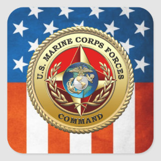 U S Marine Corps Forces Command MARFORCOM 3D Square Stickers