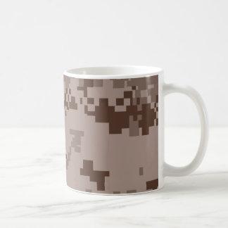 U.S. Marine Corps Marpat Desert Camouflage Basic White Mug