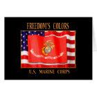U.S. Marine Corps Note Card